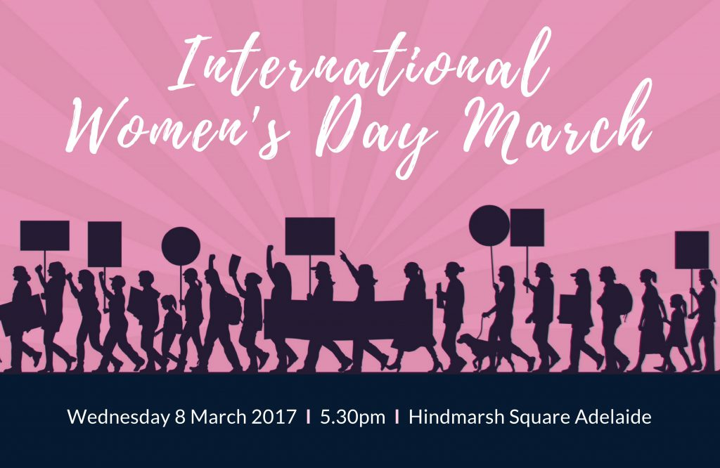 WIMDOI International Women's Day March - 8th of March from 5:30PM at Hindmarsh Square